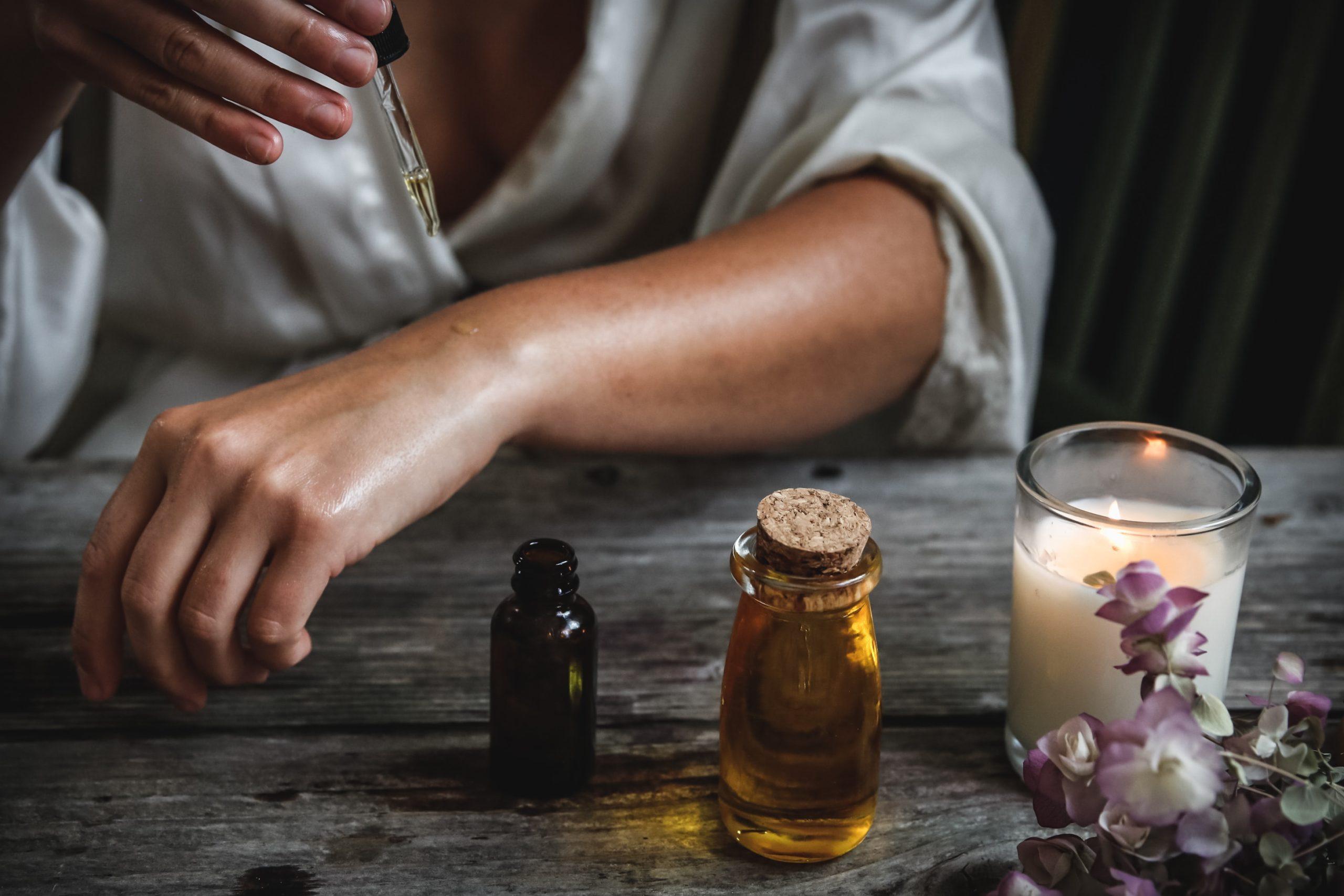 olej na poparzenie i wysypkę