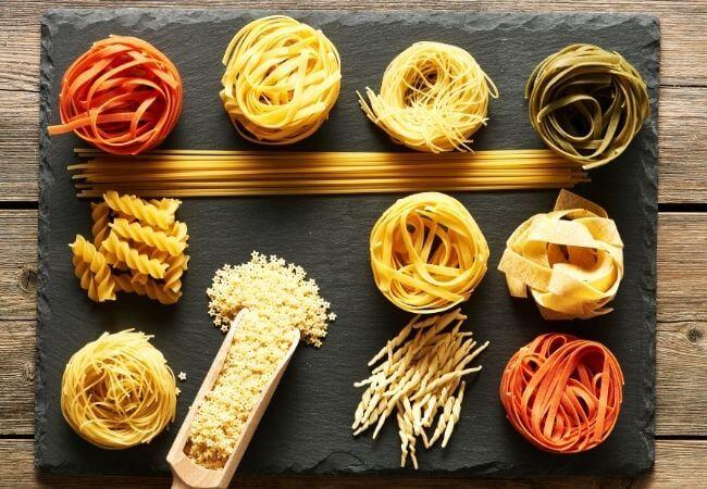makarony włoskie - rodzaje